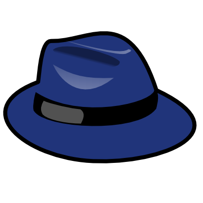 Download free blue hat clothing icon