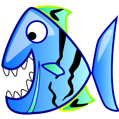 Download free blue fish animal icon
