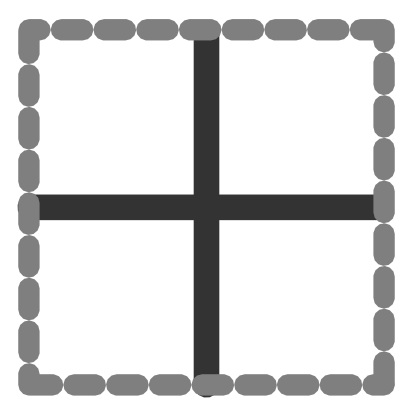 Download free grey square stroke grid icon