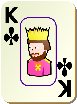 Download free game card clubs king icon