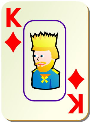 Download free game card tile king icon