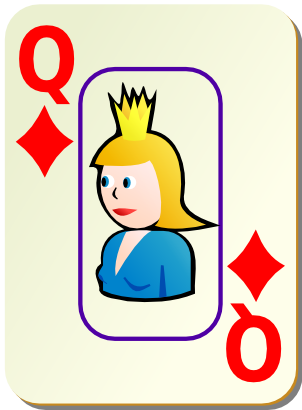 Download free game card tile queen icon