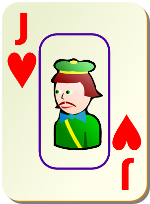 Download free game card heart jack icon