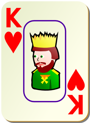 Download free game card heart king icon