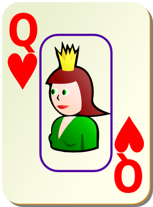 Download free game card heart queen icon