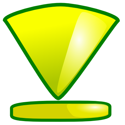 Download free yellow arrow bottom icon