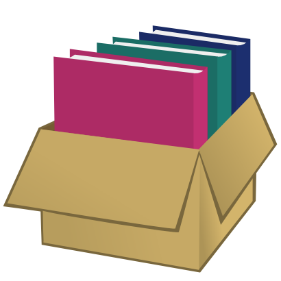 Download free folder box carton icon