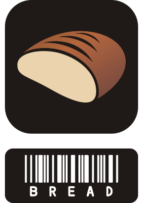 Download free food bread barcode icon