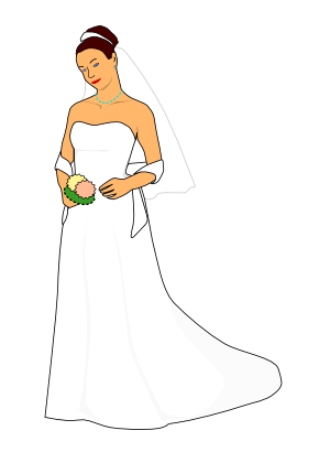 Download free woman clothing marriage dress icon