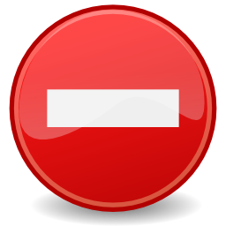Download free red round direction prohibited icon