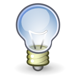 Download free bulb information icon