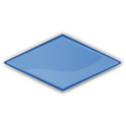 Download free rhombus blue icon
