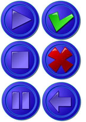 Download free blue round arrow cross icon