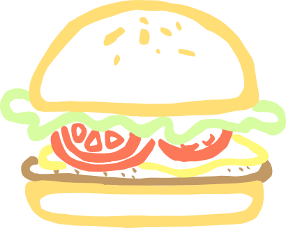 Download free food bread hamburger icon