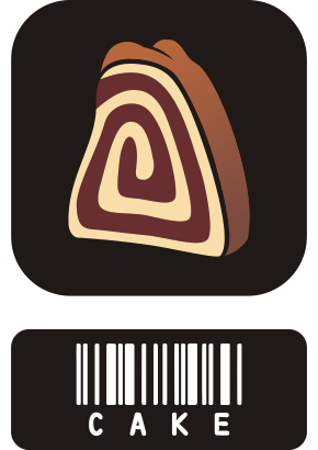 Download free food cake barcode icon