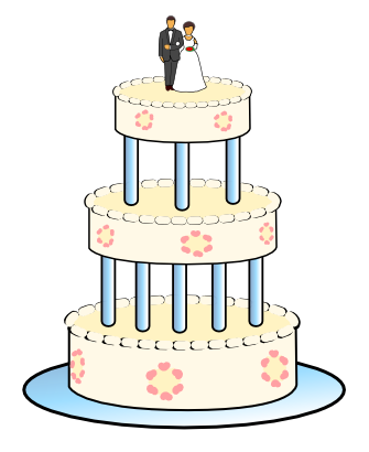 Download free food cake marriage icon
