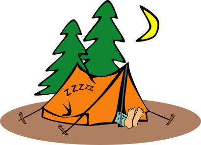 Download free foot tree camping moon tent icon
