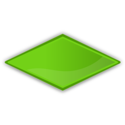 Download free rhombus green icon