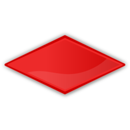 Download free rhombus red icon