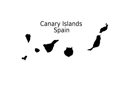 Download free card island spain canary islands icon
