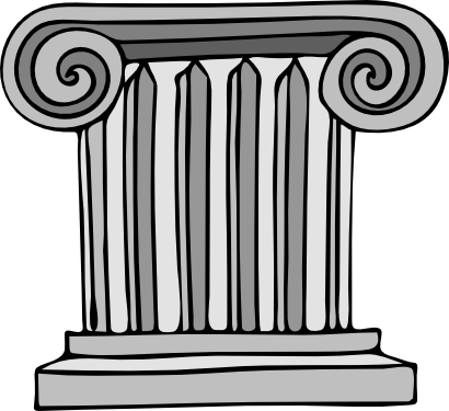 Download free greece stone tower icon