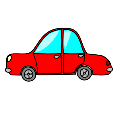 Download free red transport car icon