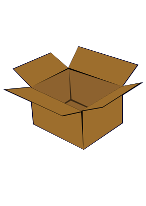Download free brown box carton icon