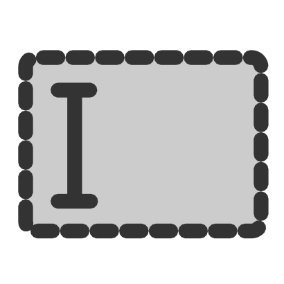 Download free grey cursor rectangle icon