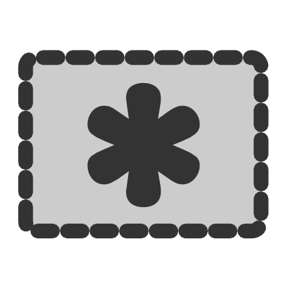 Download free grey rectangle star icon