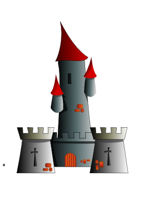 Download free tower building castle icon