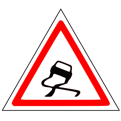 Download free triangle drag attention car icon
