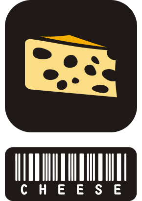 Download free cheese food barcode icon