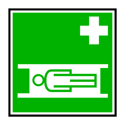 Download free cross green health bed icon