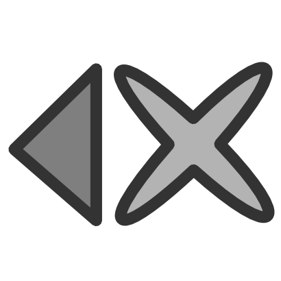 Download free grey arrow cross left icon