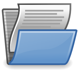 Download free sheet document folder open icon