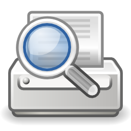 Download free sheet printer preview magnifying glass icon