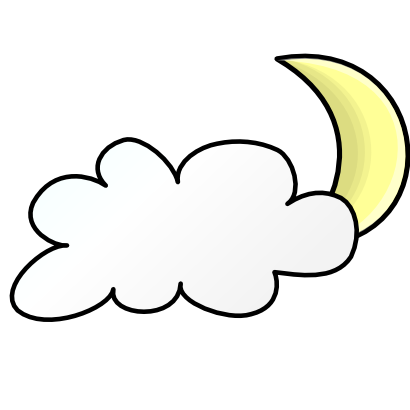 Download free cloud moon icon