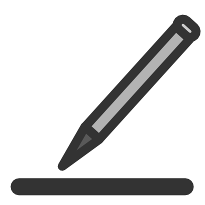 Download free pencil grey paper stylus icon