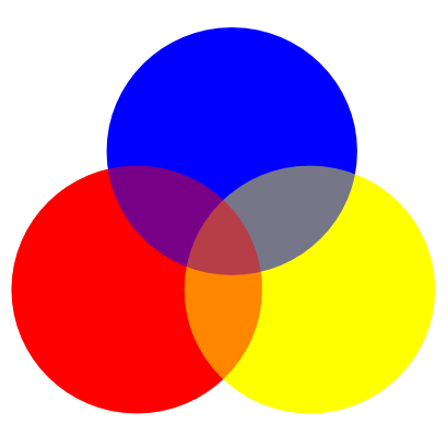 Download free yellow blue red round disk color icon