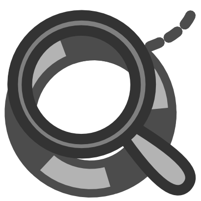 Download free grey circle magnifying glass icon