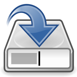 Download free blue document arrow save record icon