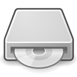 Download free grey disk cd optical icon
