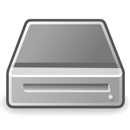 Download free grey disk hard removable storage icon