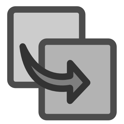 Download free grey arrow square icon