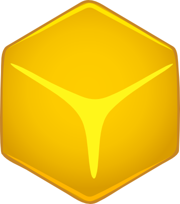 Download free yellow cube icon