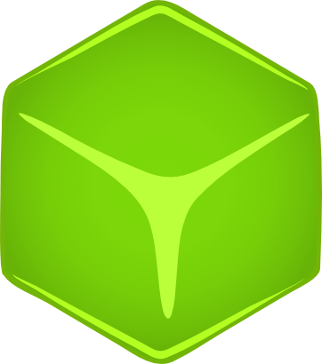 Download free green cube icon