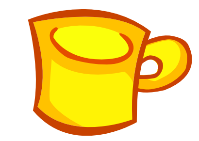 Download free yellow covered cup icon
