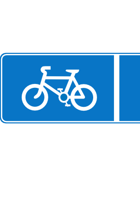 Download free blue bike rectangle icon