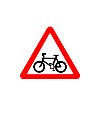 Download free red triangle bike panel icon