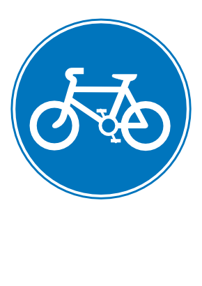 Download free blue round bike panel icon
